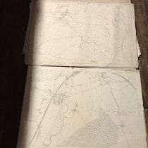 COLLECTION OF THIRTY 1:2500 ORDNANCE SURVEY MAPS covering Clifton Maybank, Stroford; Alfiington;