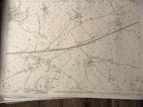 COLLECTION OF THIRTY 1:2500 ORDNANCE SURVEY MAPS covering Feniton & Feniton Bridges; Colyton;