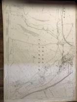 COLLECTION OF THIRTY 1:2500 ORDNANCE SURVEY MAPS covering Bower Hinton; Frome Vauchurch and Maiden