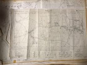 COLLECTION OF THIRTY 1:2500 ORDNANCE SURVEY MAPS covering West Coker, Tarrant, Monkton; Blandford St