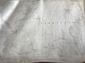 COLLECTION OF THIRTY 1:2500 ORDNANCE SURVEY MAPS covering Raddington; East Combe and Combe Florey;