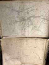 COLLECTION OF THIRTY 1:2500 ORDNANCE SURVEY MAPS covering Hillfarrance; Heathfield; Milverton;