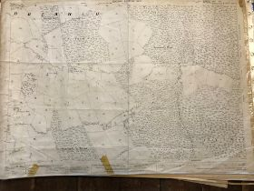 COLLECTION OF THIRTY 1:2500 ORDNANCE SURVEY MAPS covering Dulcote; Brewham; Southway and Polsham;