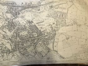 COLLECTION OF THIRTY 1:2500 ORDNANCE SURVEY MAPS covering Taunton encompassing Trinity Ward;