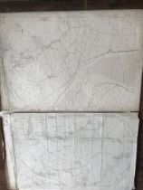 COLLECTION OF THIRTY 1:2500 ORDNANCE SURVEY MAPS covering Otterhampton; Woolston; Lower Vellow and