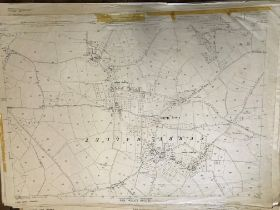 COLLECTION OF THIRTY 1:2500 ORDNANCE SURVEY MAPS covering Long Sutton; Curry Mallet; Taunton