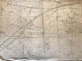 COLLECTION OF THIRTY 1:2500 ORDNANCE SURVEY MAPS covering Wincanton; Langport; North Barrow;