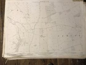 COLLECTION OF THIRTY 1:2500 ORDNANCE SURVEY MAPS covering Dunster; Stringston; Stogursey; Broad