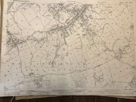 COLLECTION OF THIRTY 1:2500 ORDNANCE SURVEY MAPS covering Downhead, Wellington, Wellshead and