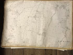 COLLECTION OF THIRTY 1:2500 ORDNANCE SURVEY MAPS covering Poundisford, Orchard Portman; Kibbear,