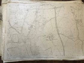 COLLECTION OF THIRTY 1:2500 ORDNANCE SURVEY MAPS covering Easton & Middleton; Melbury Bubb; Up
