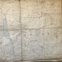 COLLECTION OF THIRTY 1:2500 ORDNANCE SURVEY MAPS covering Stourton; Goathurst; Long burton; North