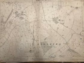COLLECTION OF THIRTY 1:2500 ORDNANCE SURVEY MAPS covering Elworthy; Stogumber; Staple Firzpaine;