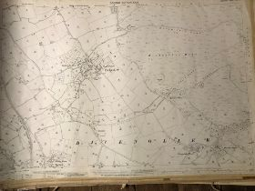 COLLECTION OF THIRTY 1:2500 ORDNANCE SURVEY MAPS covering Bicknoller, Millborne Port; Haselbury