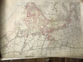 COLLECTION OF THIRTY 1:2500 ORDNANCE SURVEY MAPS covering Clevedon; Clevedon Court; Southleigh;
