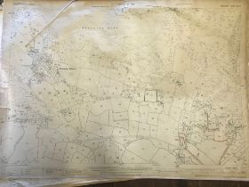 COLLECTION OF THIRTY 1:2500 ORDNANCE SURVEY MAPS covering Wilmington; Compton Bishop; Ashgrove;