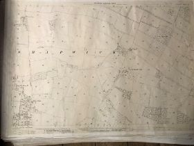 COLLECTION OF THIRTY 1:2500 ORDNANCE SURVEY MAPS covering Shapwick, West Howeton and Widlake;