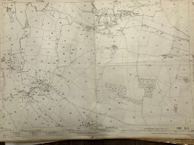 COLLECTION OF THIRTY 1:2500 ORDNANCE SURVEY MAPS covering Drimpton; Uffculme; Butleigh; Elworthy;