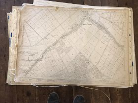 COLLECTION OF THIRTY 1:2500 ORDNANCE SURVEY MAPS covering Combe Raleigh; Athelney & Burrowbridge;