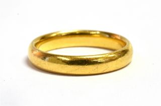 A 22CT GOLD WEDDING BAND Hallmarked for Birmingham 1929, markers mark C.G & S Ring size L, weight