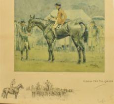 AFTER SNAFFLES (CHARLIE JOHNSON PAYNE) (BRISTISH 1884-1967) 'A bona fide fox chaser', colour print