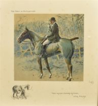 AFTER SNAFFLES (CHARLIE JOHNSON PAYNE) (BRISTISH 1884-1967) 'The gent in rat catcher, I have my