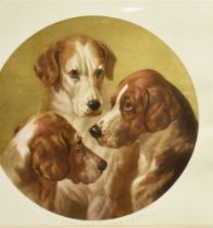AFTER WILLIAM BARRAUD: 'The Fathers of the Pack' Coloured engraving 52.5cm diameter (plate size)