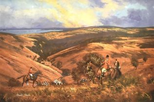 TWO DONALD AYRES SIGNED LIMITED EDTION PRINTS: 'Dulverton Country', numbered 95/350 Odell Gallery