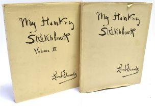 [HUNTING] LIONEL EDWARDS My Hunting Sketchbook, 1928 and My Hunting Sketchbook vol. 11 1930, ill.