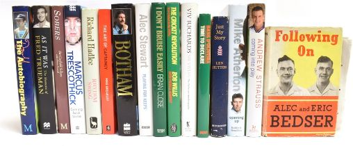 [CRICKET] Sixteen signed biographies, the signatories including Alec and Eric Bedser, Len Hutton,