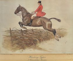 AFTER CECIL ALDIN 'Hunting types - A Warkwickshire Thruster', coloured lithograph, publ. Lawrence
