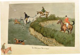 AFTER SNAFFLES (CHARLIE JOHNSON PAYNE) (BRISTISH 1884-1967) 'The stonefaced 'narrer-back'', colour
