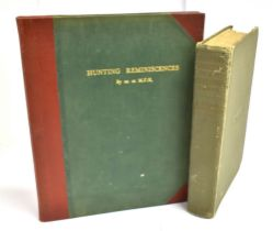 FAIRFAX-BLAKESBOROUGH. J. The Hunting and Sporting Reminiscences of H.W Selby Lowndes M.F.H,