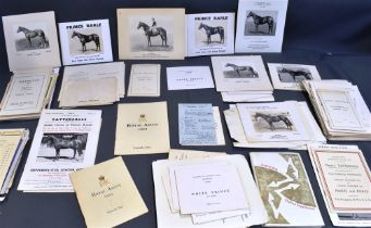 A COLLECTION OF EQUINE EPHEMERA including breeder's catalogues and horse-racing programmes.