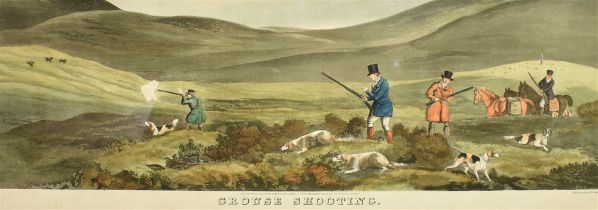 T SUTHERLAND AFTER D WOLSTENHOLME 'Grouse Shooting' and 'Partridge Shooting', hand coloured