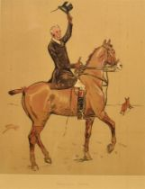 AFTER SNAFFLES (CHARLIE JOHNSON PAYNE) (BRISTISH 1884-1967) 'Hogany Tops', colour print, 39.5 x