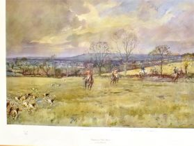 A LIMITED EDITION LIONEL EDWARDS PRINT 'BLACKMOOR VALE HUNT' numbered 312/500, Chelsea Green