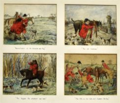 AFTER JOHN LEECH twelve humorous colour hunt prints, each fitted in pen on the mount, in three