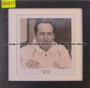 GERARD HOULLIER 1998-2004 b & w photograph from the Managers' Gallery at Liverpool Football Club's