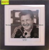 ROY HODGSON 2010-2011 b & w photograph from the Managers' Gallery at Liverpool Football Club's
