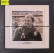 KENNY DALGLISH 1985-1991 & 2011-2012 b & w photograph from the Managers' Gallery at Liverpool