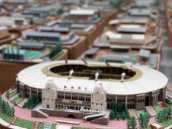 Handcrafted Football Stadium Models