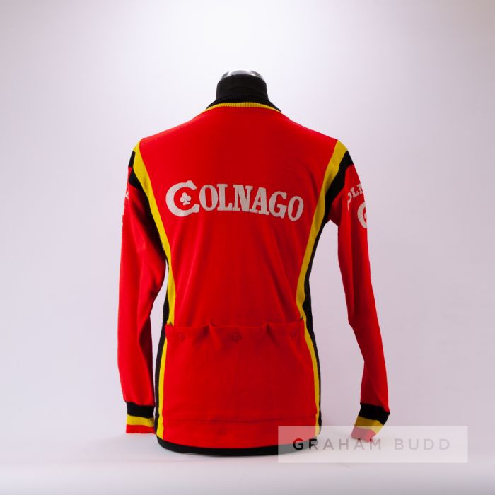 1977 red, yellow and black vintage Italian Colnago Eroica Cycling race/tour jersey, scarce, - Image 2 of 4