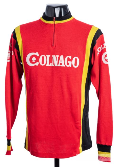 1977 red, yellow and black vintage Italian Colnago Eroica Cycling race/tour jersey, scarce,
