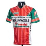 2005 green, orange, white and black French Amicale Laique Cycling race/tour jersey, scarce,