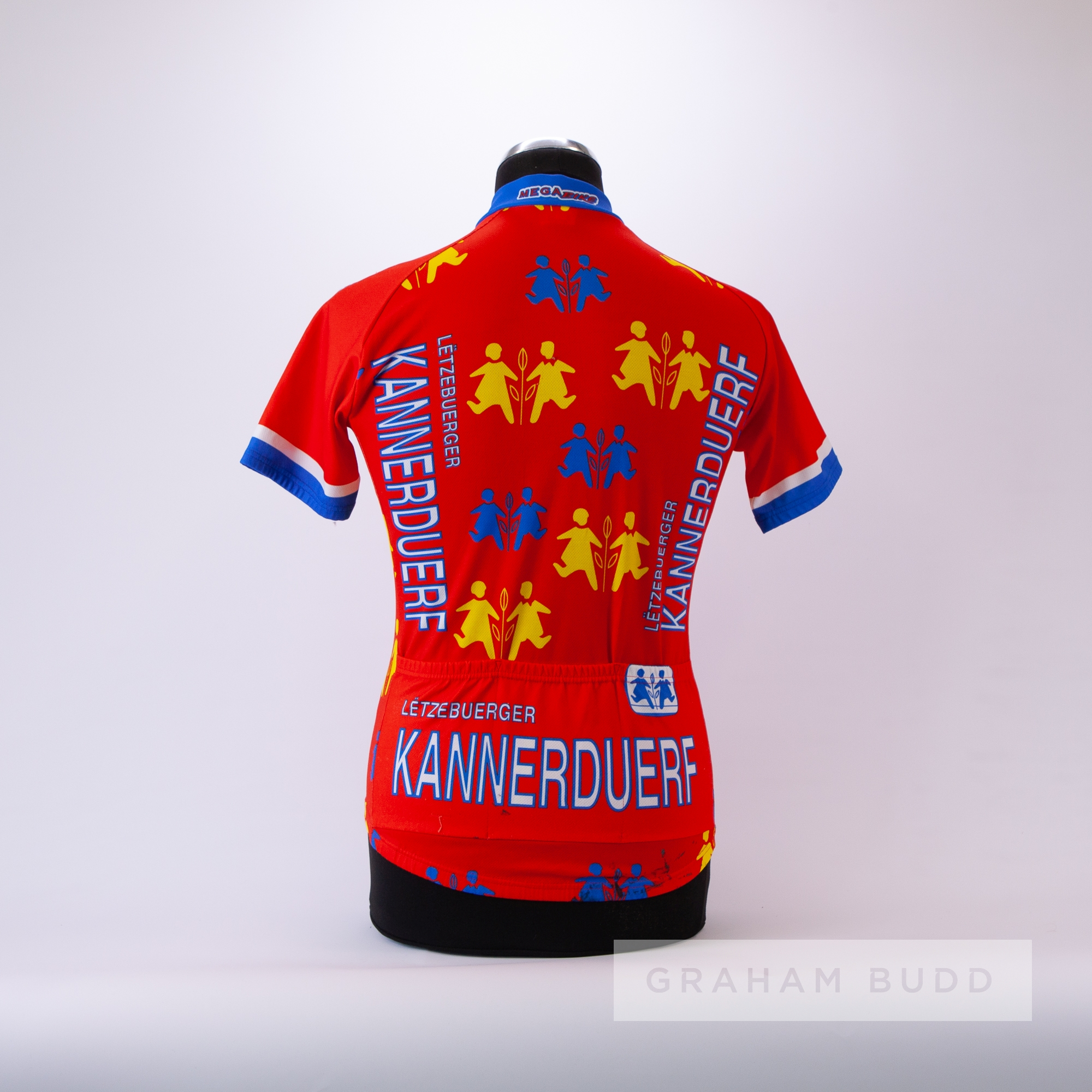 1985 orange, white, red and yellow Gigi Cycling team race jersey, scarce, polyester short-sleeved - Image 4 of 4