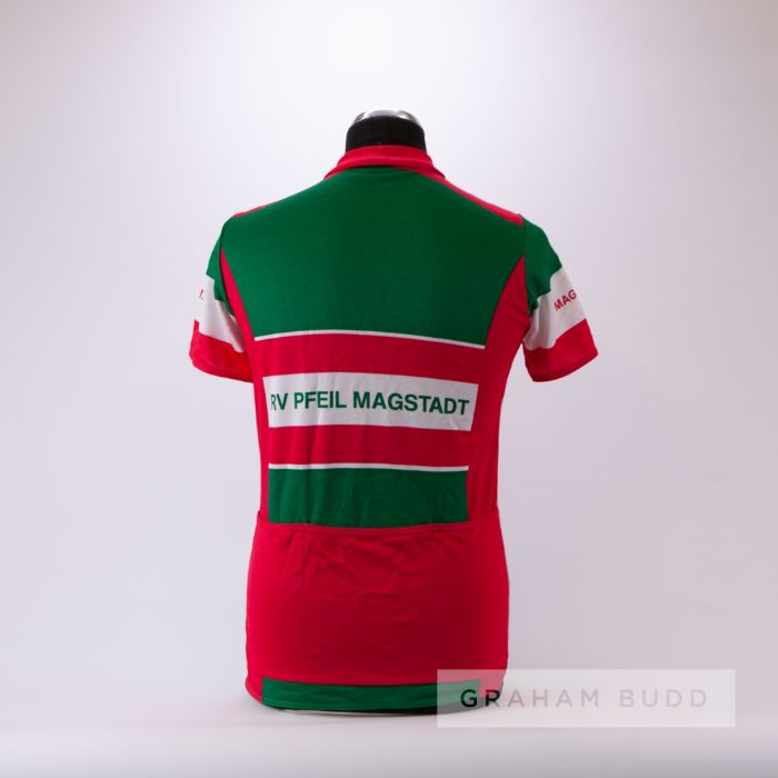 2005 green, white and pink German Gebert Sport RV Pfeil Magstadt Cycling race jersey, scarce, - Image 2 of 4