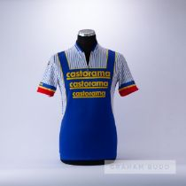 1990 white, blue, red and yellow Castorama Raleigh Classic Cycling team race jersey, scarce,