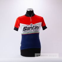2000 red, white, navy and black Santini Maglificio Sportivo Heritage Cycling race jersey, scarce,