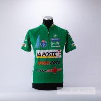 1995 green Italian Castelli La Poste Tour de Romandie Geneve Cycling race jersey, scarce,